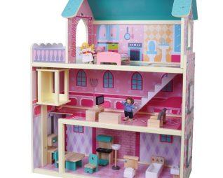 בית בובות רב קומות מעץ PIT TOYS
