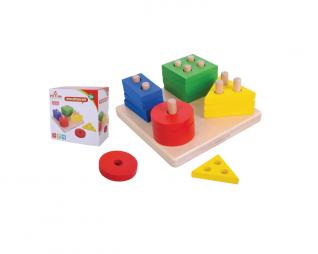 לוח השחלת צורות PIT TOYS