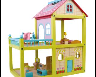 בית בובות צבעוני מעץ PIT TOYS