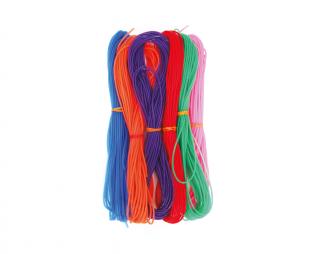 חוט ניילון חלול 8 מטר מעורב צבעים 6 יח' פלדע