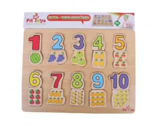 פאזל מספרים וכמויות פיט טויס PIT TOYS