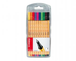 סט 10 עטים פוינט 88 פינליינר סטאבילו STABILO