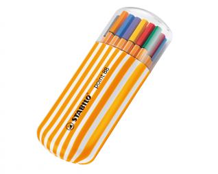 סט 20 עטים פוינט 88 פינליינר בקלמר אליפטי סטאבילו STABILO