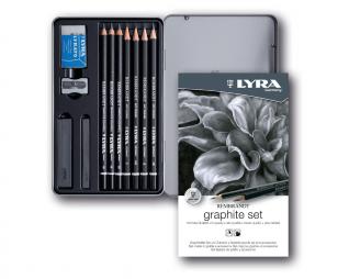 סט 11 עפרונות שרטוט ופחם LYRA GRAPHITE SET