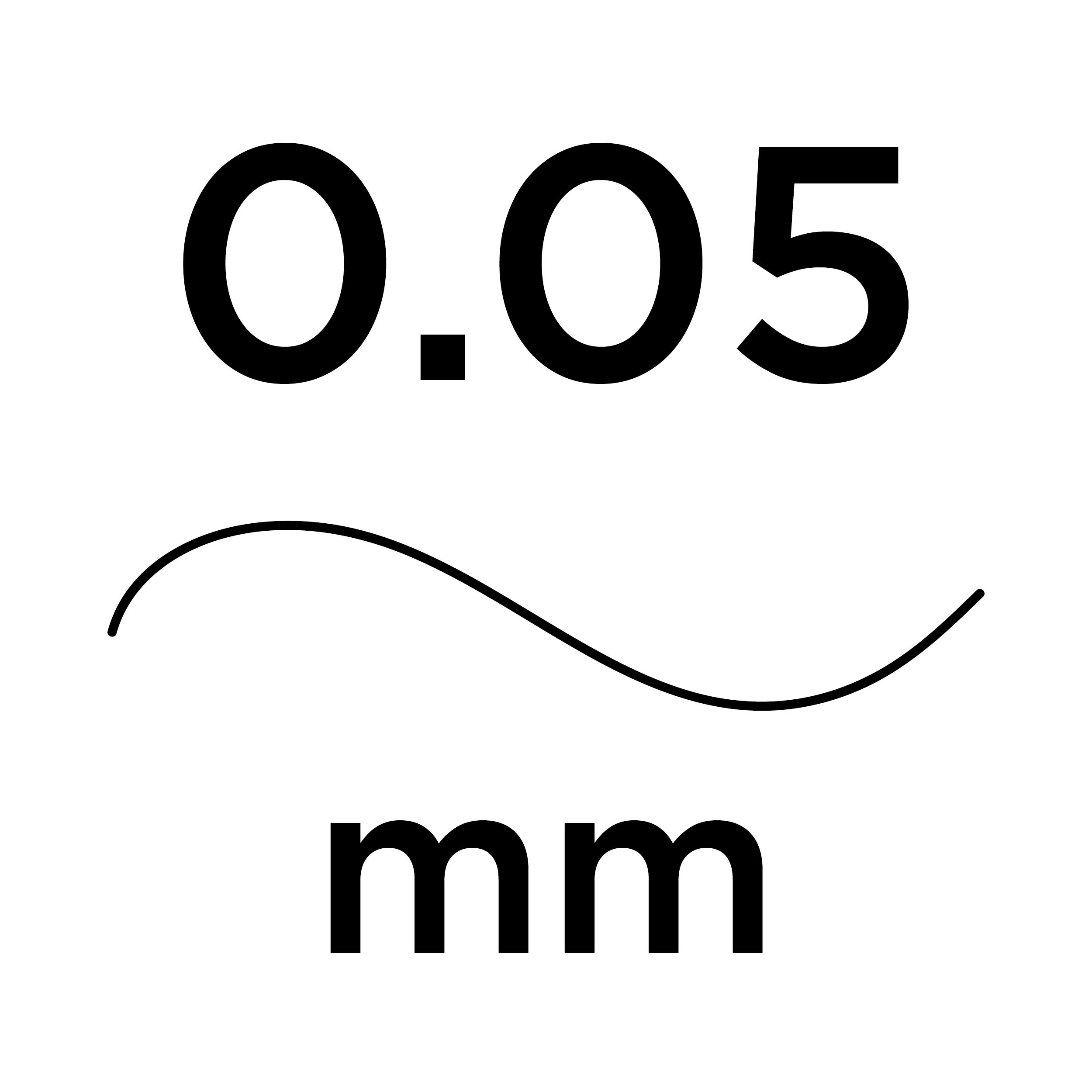 0.05mm