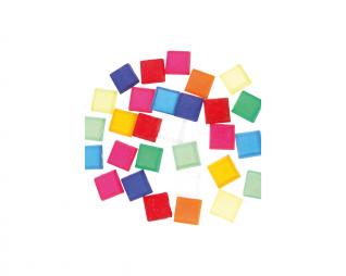 אבני מוזאיקה שקוף צבעוני מרובע סופרקיט
