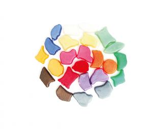 אבני מוזאיקה גווני פנינה מגוון צורות סופרקיט