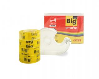 סלוטייפ 4 יח' + מתקן BIG