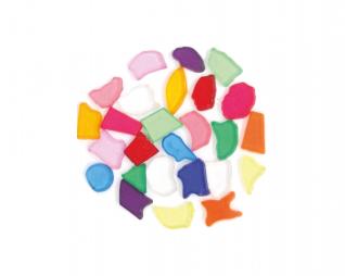 אבני מוזאיקה שקוף צבעוני מגוון צורות סופרקיט
