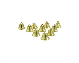 """פעמונים פתוחים זהב 18 מ""""מ 10 יח' פלדע"""