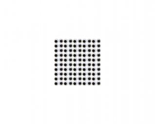 """עיניים זזות 7 מ""""מ 100 יח' פלדע"""