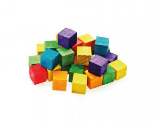 קוביות עץ צבעוני 72 יח' סופרקיט