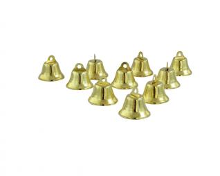 """פעמונים פתוחים זהב 25 מ""""מ 10 יח' פלדע"""