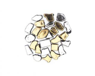 אבני מוזאיקה זהב וכסף מגוון צורות סופרקיט