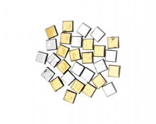 אבני מוזאיקה זהב וכסף מרובע סופרקיט