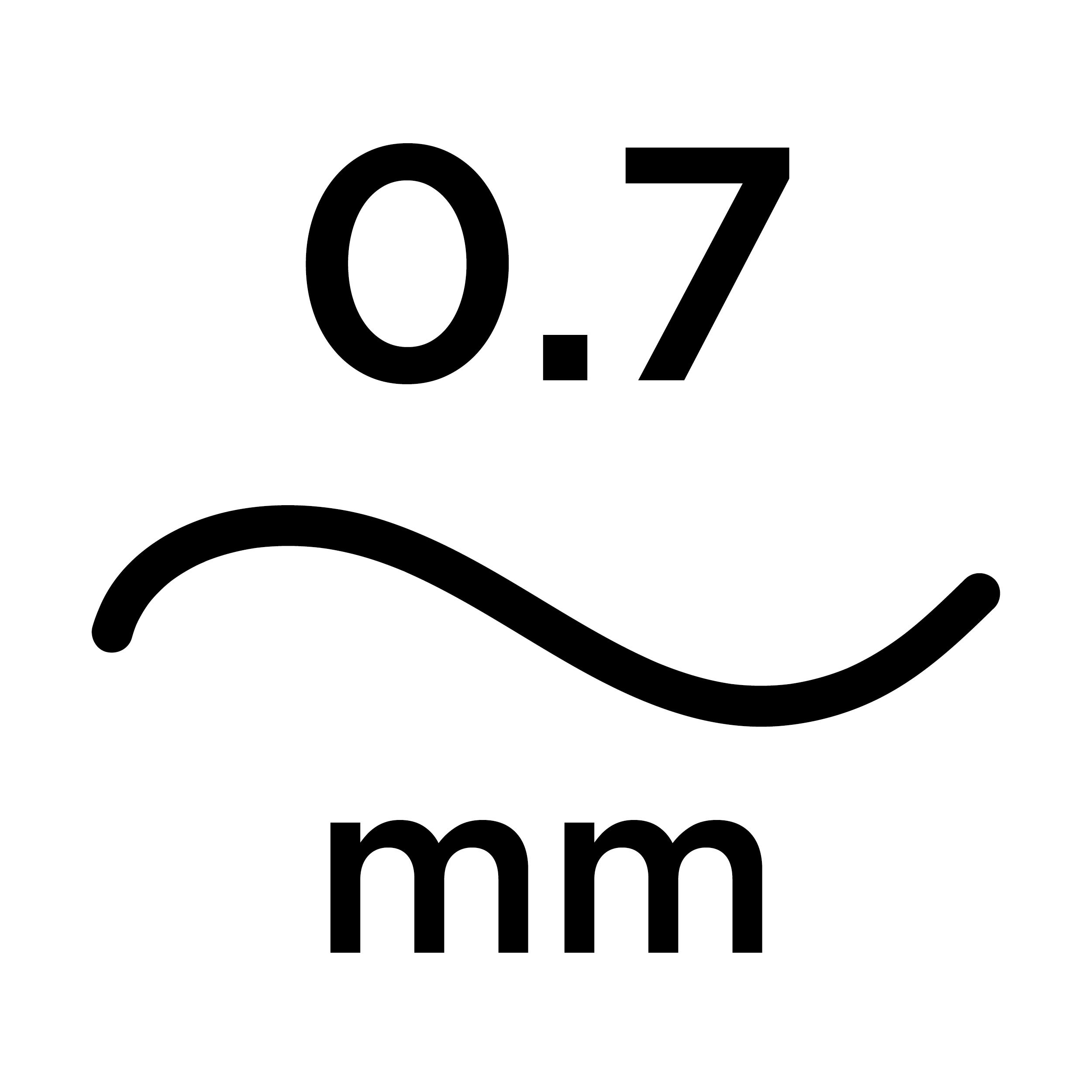 0.7mm