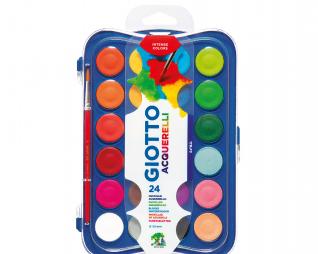 סט 24 צבעי מים + מכחול GIOTTO