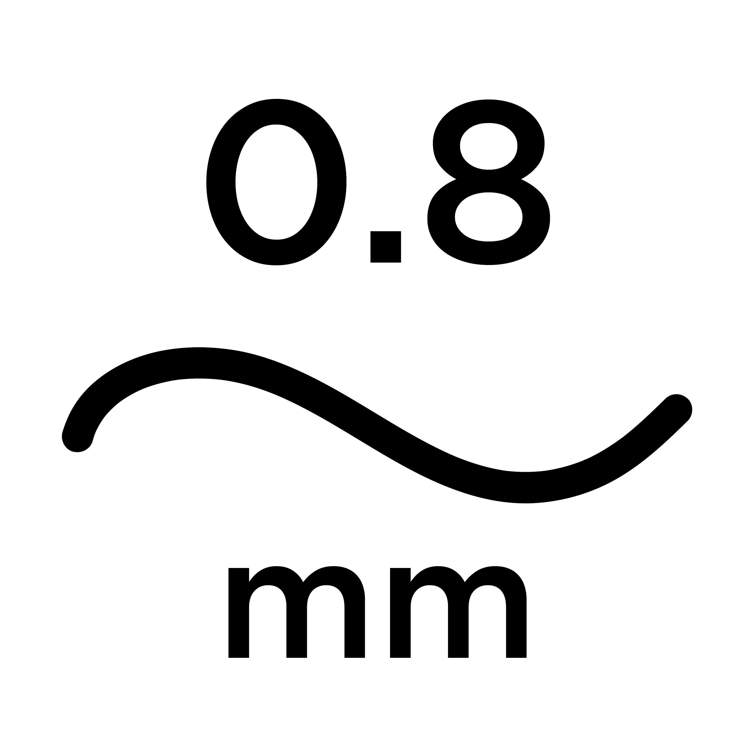 0.8mm