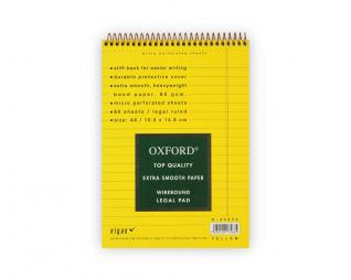 בלוק ספירל צהוב שורה OXFORD A6