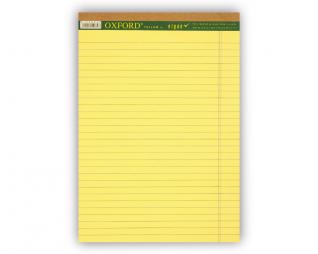 בלוק כתיבה צהוב שורה OXFORD A4