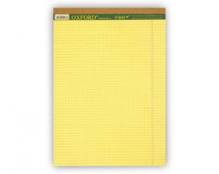 בלוק כתיבה צהוב משובץ OXFORD A4