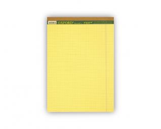 בלוק כתיבה צהוב משובץ OXFROD A5