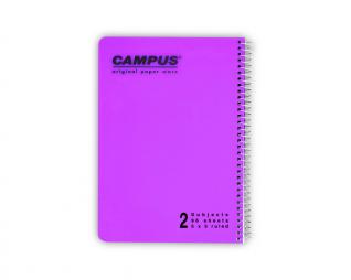 מחברת משובץ ספירל 2 נושאים CAMPUS A5