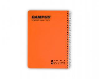 מחברת משובץ ספירל 5 נושאים CAMPUS A5