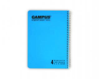 מחברת משובץ ספירל 4 נושאים CAMPUS A5