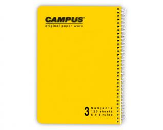 מחברת משובץ ספירל 3 נושאים CAMPUS A4