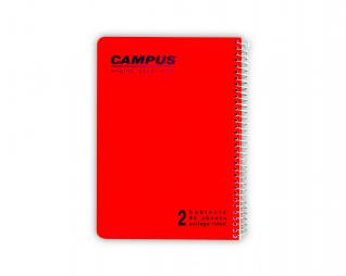 מחברת שורה ספירל 2 נושאים CAMPUS A5