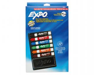 סט 6 טושים מחיקים + מחק אקספו EXPO