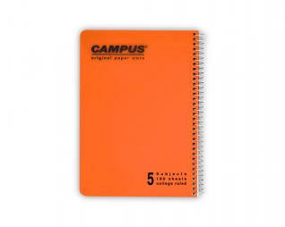 מחברת שורה ספירל 5 נושאים CAMPUS A5
