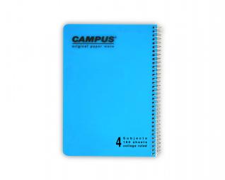 מחברת שורה ספירל 4 נושאים CAMPUS A5
