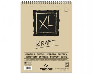 בלוק ציור ספירל קראפט CANSON XL KRAFT A4
