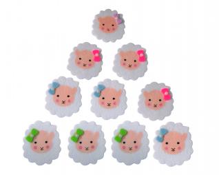 חיתוכי לבד דביק כבשים 12 יח' פלדע