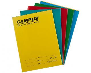 10 מחברות סיכה צבעוניות 40 דף CAMPUS A5
