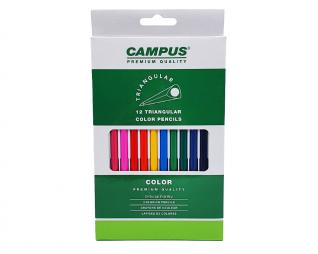 עפרונות צבעוניים 12 יח׳ CAMPUS