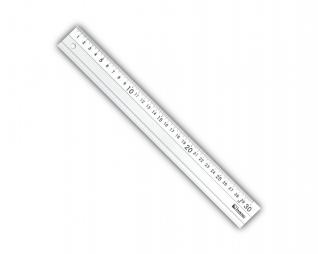 סרגל חיתוך אלומניום עם מעצור גומי LINERO