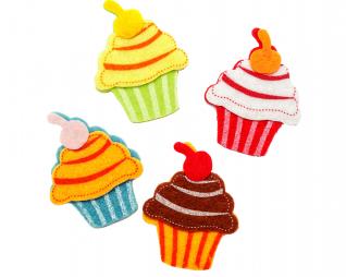 חיתוכי לבד דביק עוגות 12 יח' פלדע