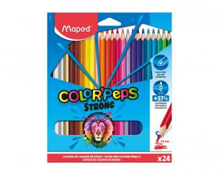 עפרונות צבעוניים 24 יח' MAPED STRONG