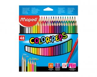 עפרונות צבעוניים 48 יח' MAPED STRONG