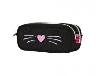 קלמר 2 תאים חתול שחור כיס IN WAY