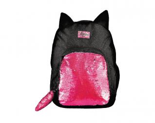 תיק חתול שחור זנב פייטים IN WAY FAST