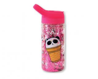 """בקבוק פנדה גליטרים 350 מ""""ל LOOPY"""