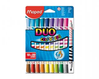 צבעי טוש דו צדדי 20 גוונים MAPED DUO