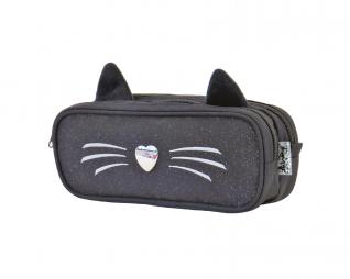 קלמר 2 תאים חתול שחור זנב IN WAY