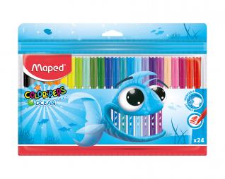 צבעי טוש 24 יח' MAPED OCEAN