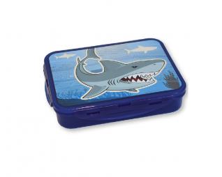 קופסת אוכל כריש מחולקת שטוחה LOOPY