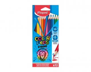 עפרונות צבעוניים 12 יח' MAPED STRONG